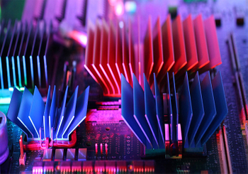 Why is the aluminum heat sink anodized?