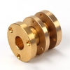 Brass cnc turned parts for flange made by SH metal solutions